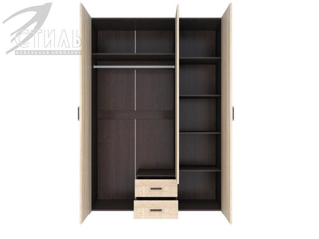 Мебель для спальни Венеция-1: Шкаф 3 ств. (распашной) Венеция-1 в Диван Плюс