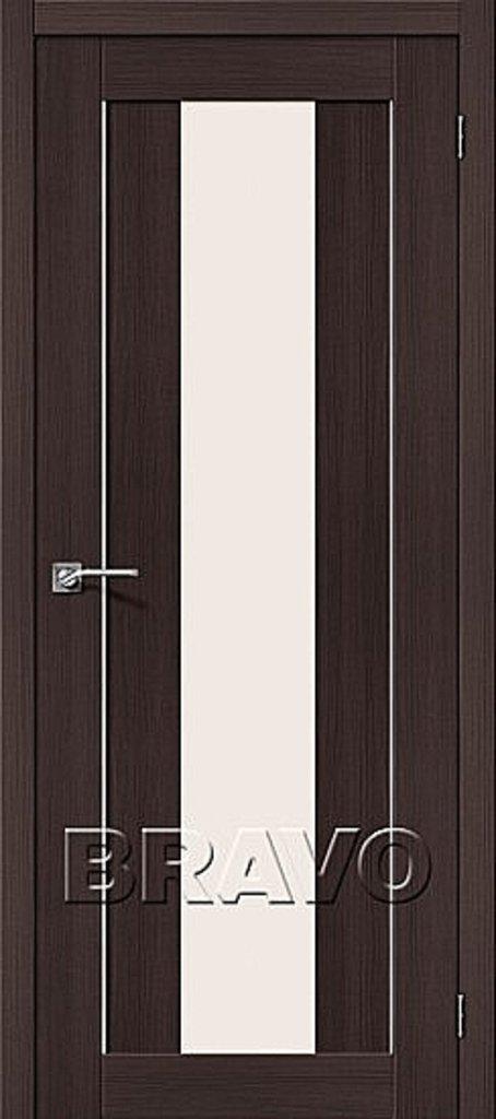 Двери экошпон BRAVO: Порта-25 alu Wenge Veralinga в STEKLOMASTER