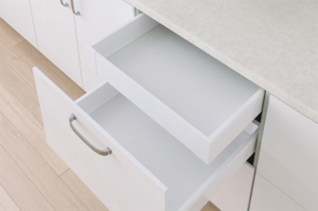 Наборы ящиков TEN: Набор внутреннего ящика TEN H=90, L=270, отделка белая в МебельСтрой