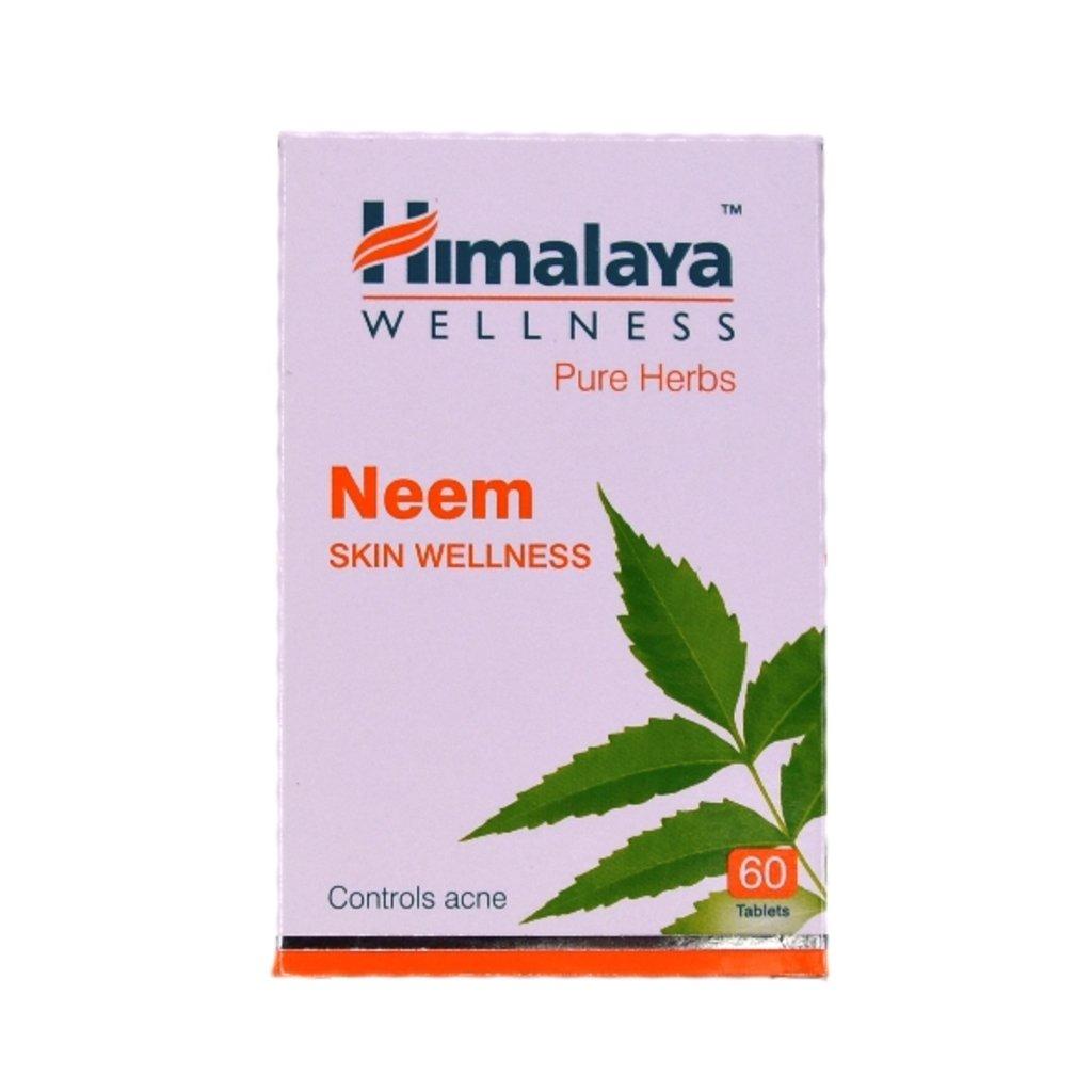 БАДы: Neem Skin Wellness (Himalaya) - 60 tablets в Шамбала, индийская лавка