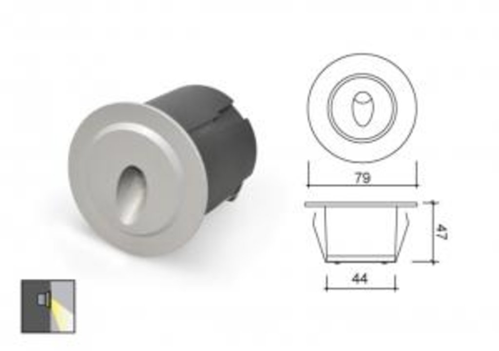 Встраиваемые светодиодные светильники: Светильник светодиодный B1QR0102 в СВЕТОВОД