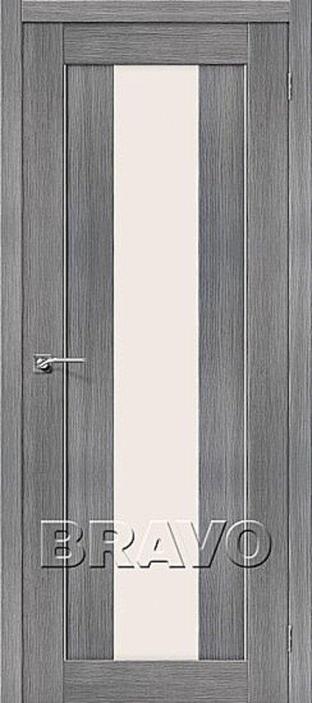 Двери экошпон BRAVO: Порта-25 alu Grey Veralinga в STEKLOMASTER
