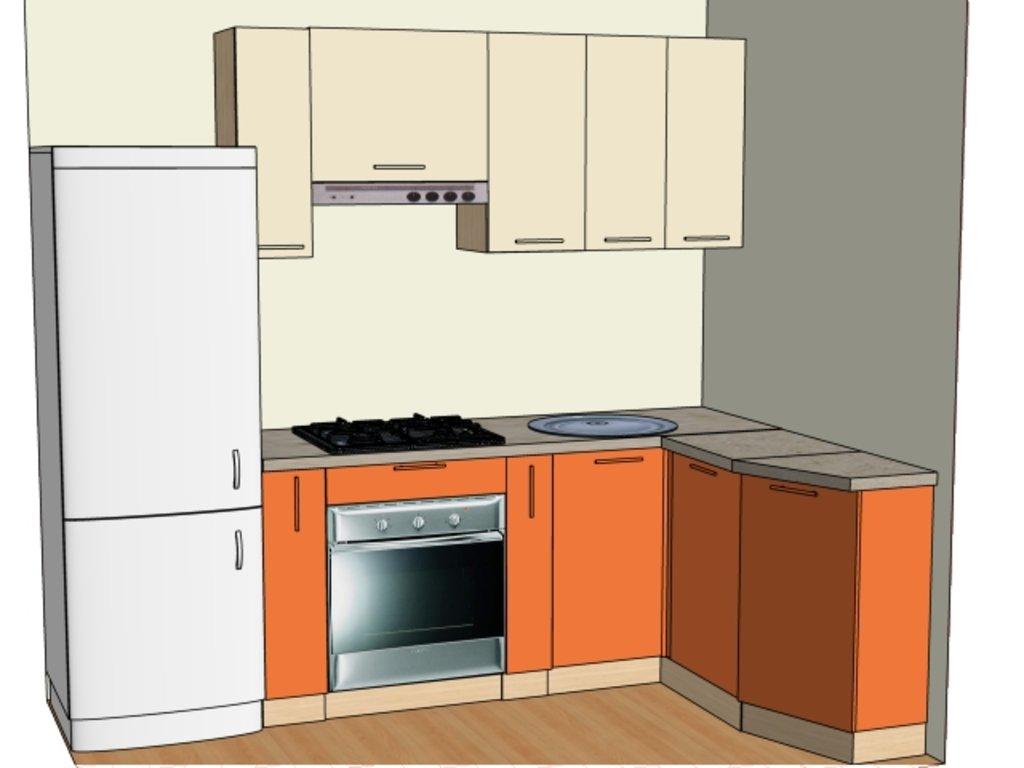 Кухонные гарнитуры: Стандартная кухня №1  Пленка ПВХ 1 категория в Мебель Белкино