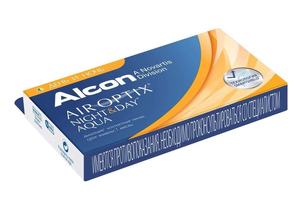 Контактные линзы: Контактные линзы AIR OPTIX Night & Day AQUA (3шт / 8.4) ALCON в Лорнет