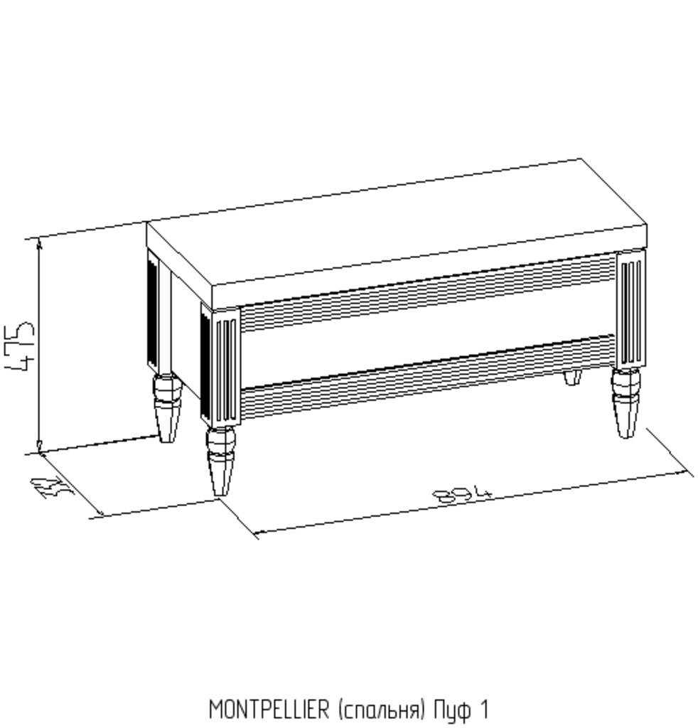 Банкетки и пуфики: Пуф 1 Montpellier в Стильная мебель