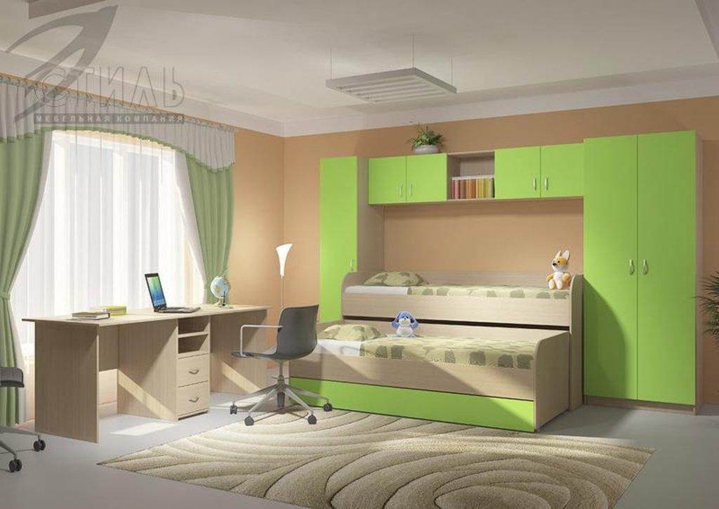 Мебель для детской Мийа - 2 (зеленый): Полка навесная Мийа - 2 (зеленый) в Диван Плюс