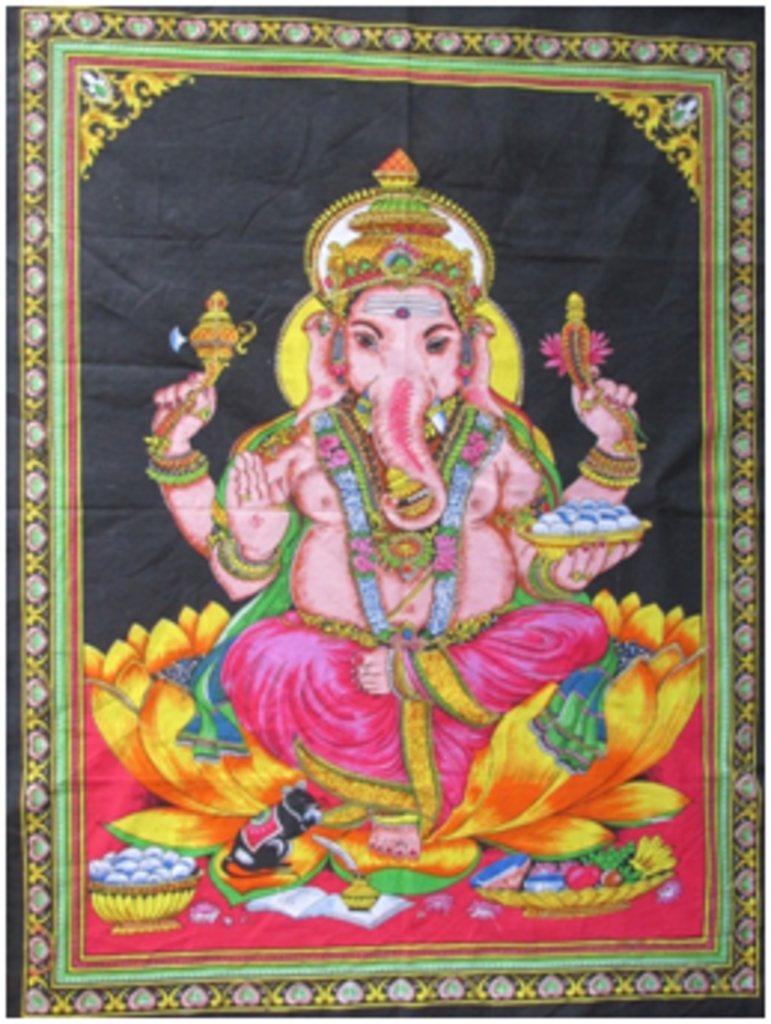 """Постеры: Постер """"Бог Ганеш"""" в Шамбала, индийская лавка"""