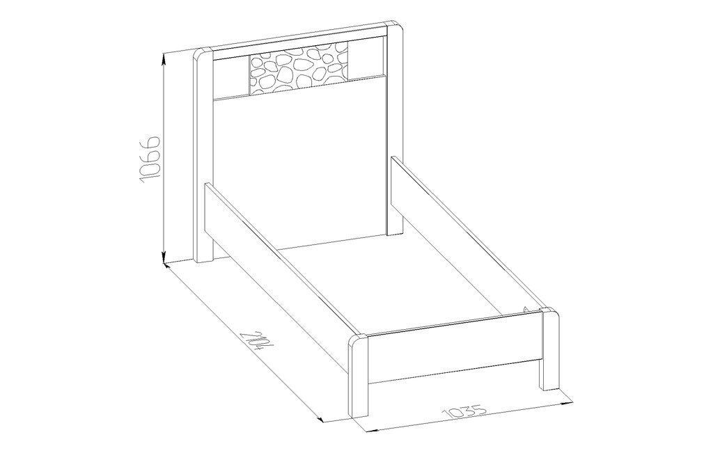 Кровати: Кровать (900) Дерево WYSPAA 45 в Стильная мебель