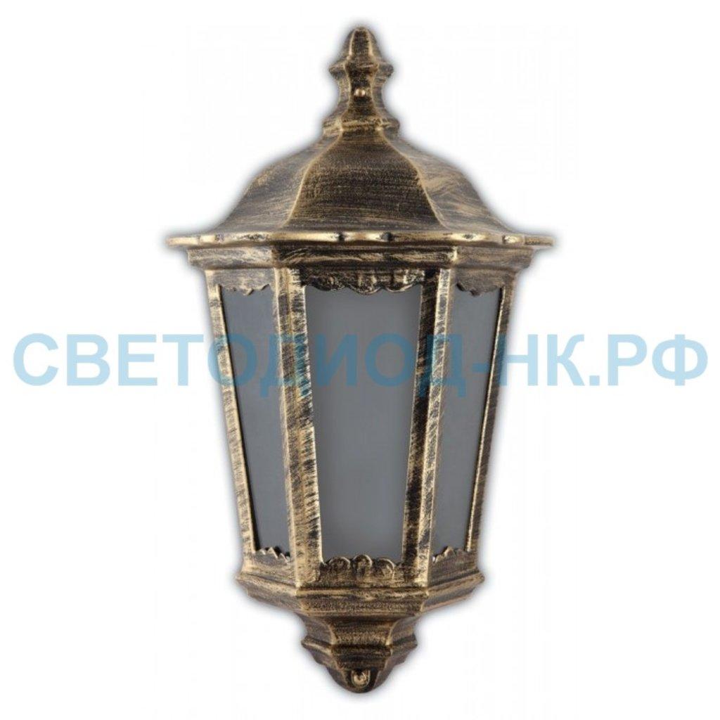 Садово-парковые светильники: 6206 60W 230V E27 240*110*435мм черное золото (половинка на стену) в СВЕТОВОД