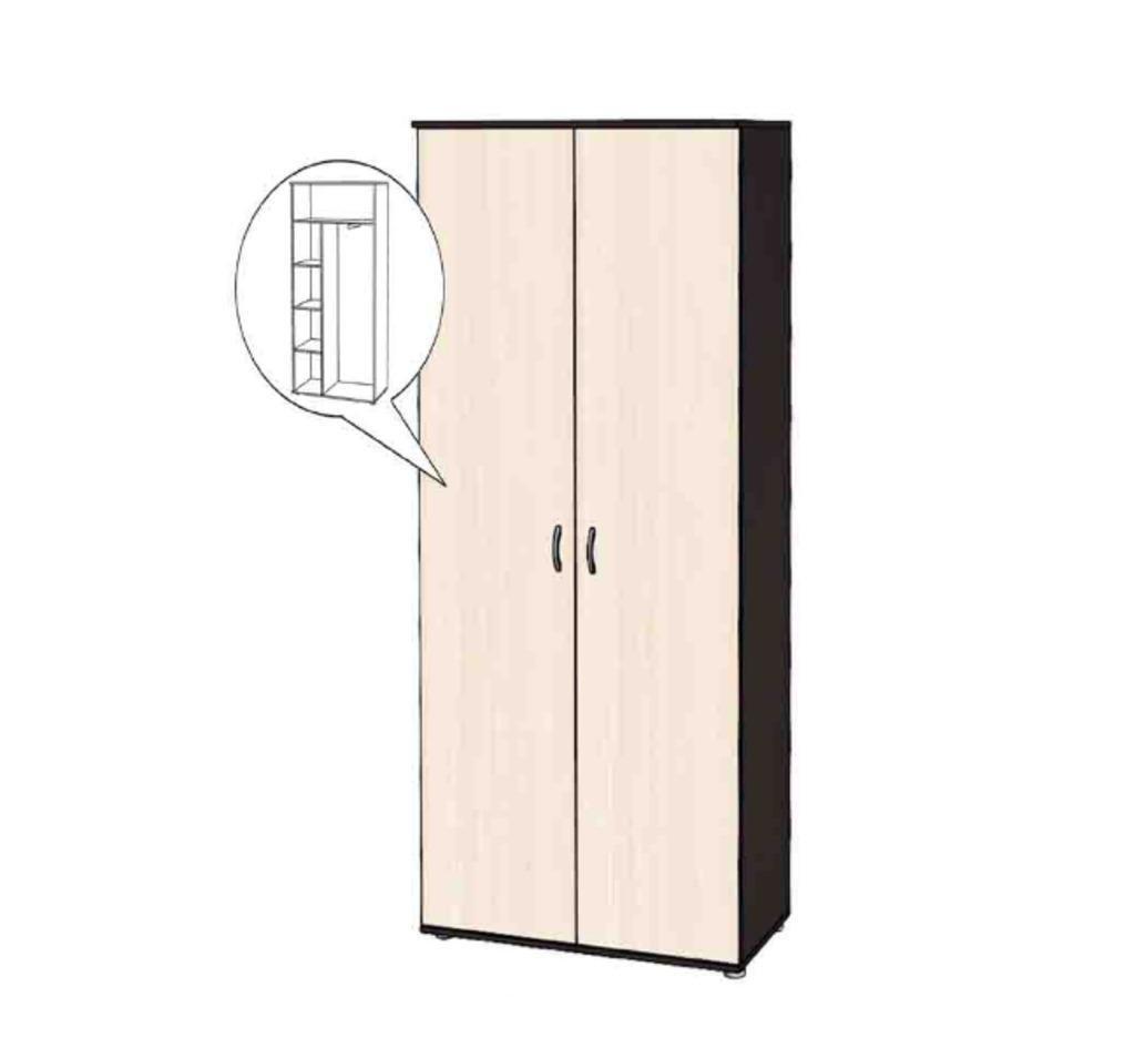 Малые формы: Шкаф 2-х створчатый комбинированный в Уютный дом