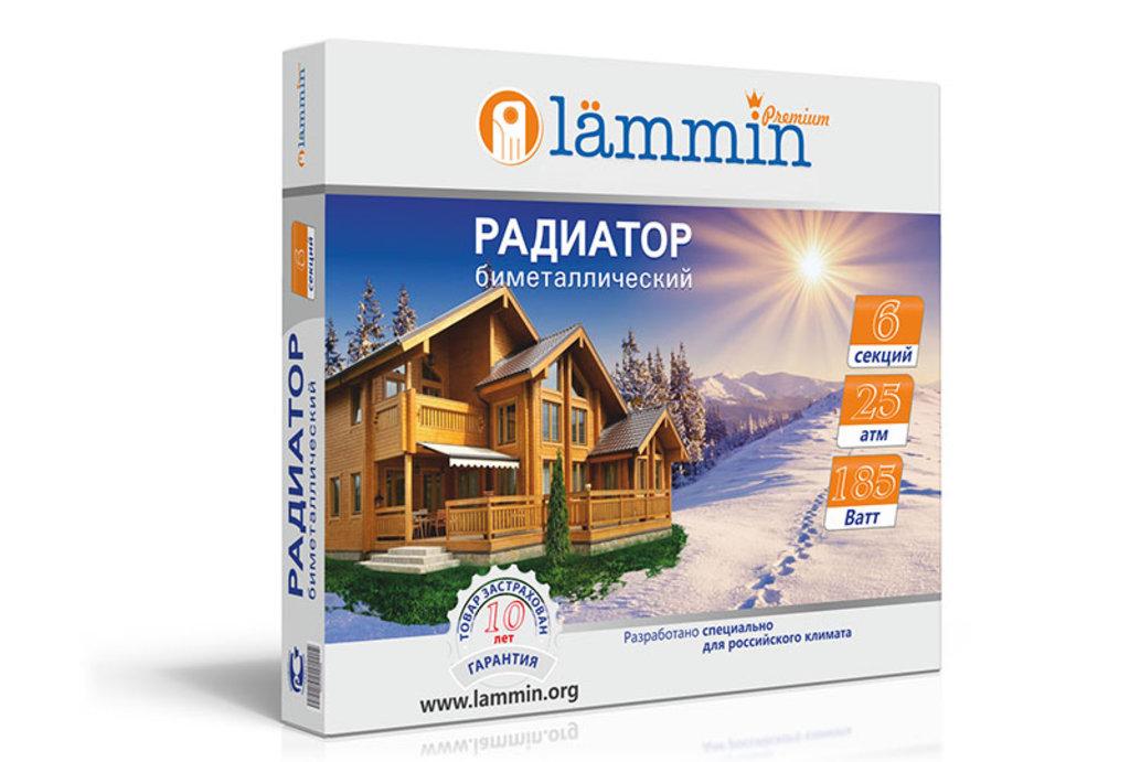 Радиаторы биметаллические (батареи): 500*80 Радиатор бимет LAMMIN в Сантехресурс