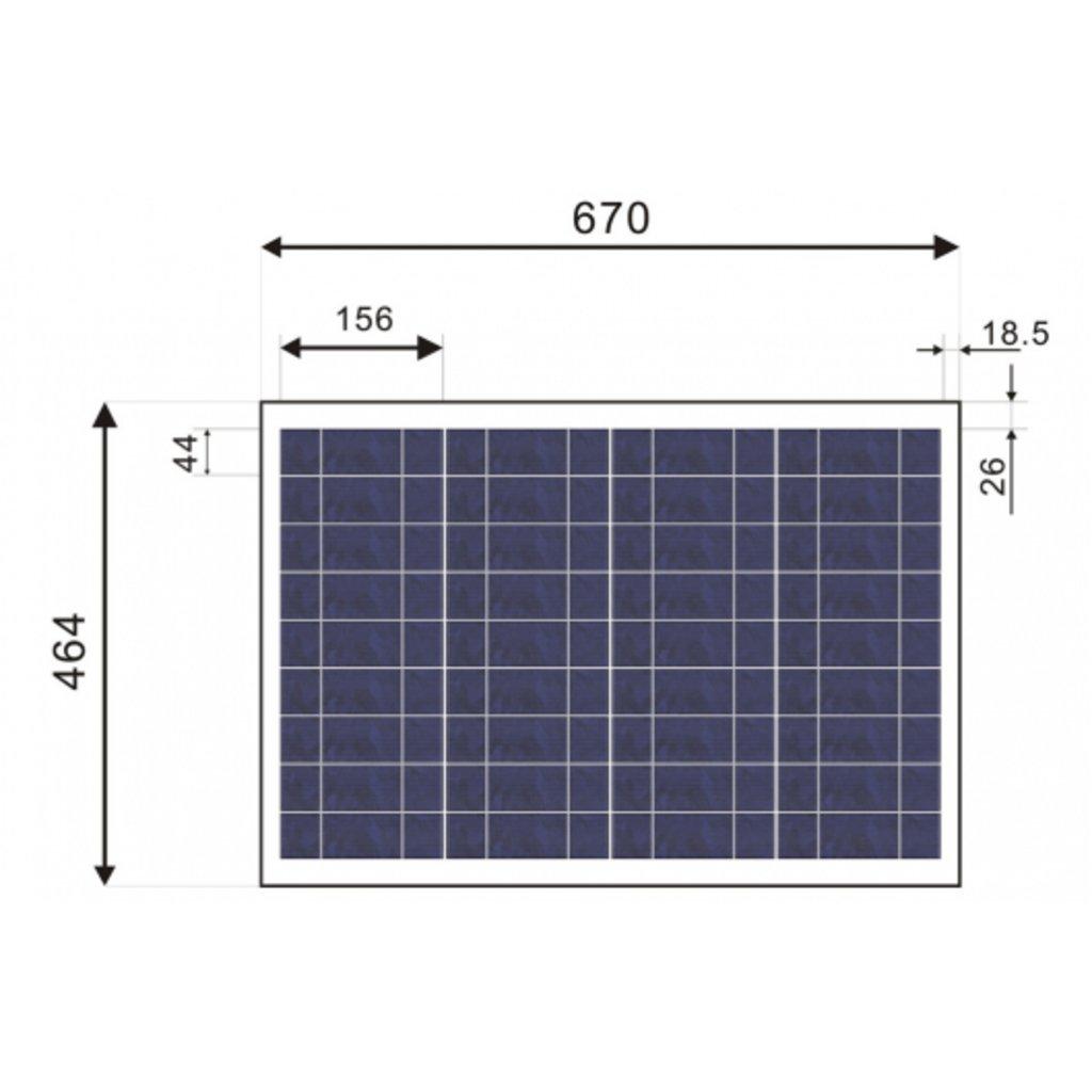 Поликристалические: Солнечная батарея SilaSolar 50Вт в Горизонт