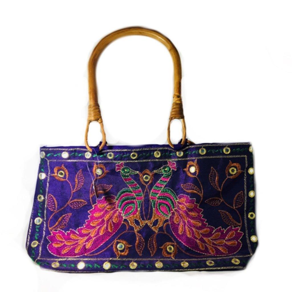 Сумки, рюкзаки, торбы: Сумочка женская (синяя) в Шамбала, индийская лавка
