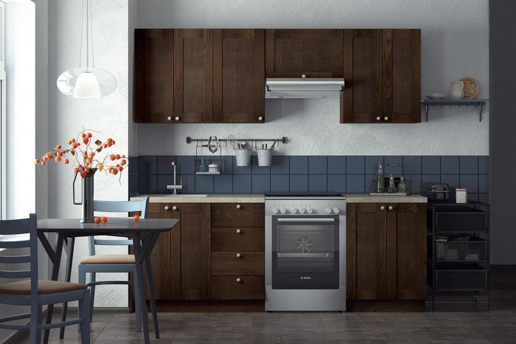 Кухни: Кухня из массива ясеня Т501-113 в Стильная мебель