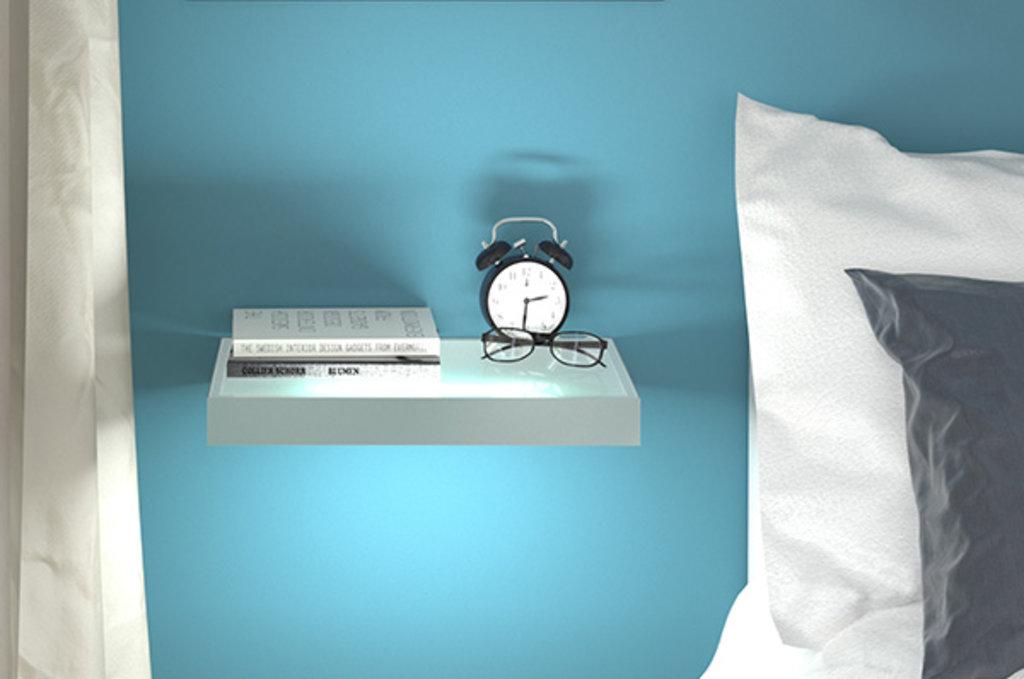 Полки-светильники: Полка-светильник LED Just-50, 600х200 мм, 6Вт (530Лм), 4200 K, отделка алюминий анодированный + стекло в МебельСтрой