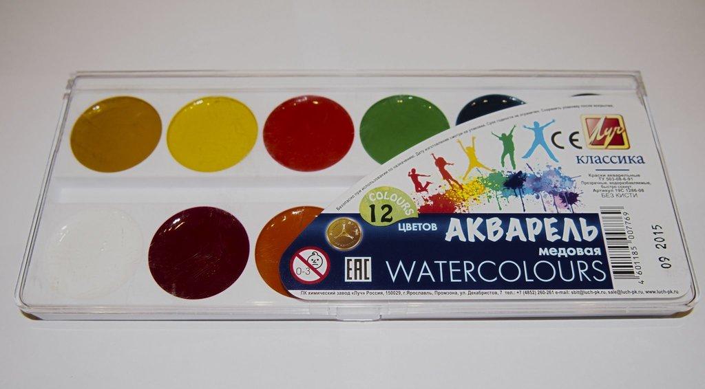 Краски: акварель в Палитра