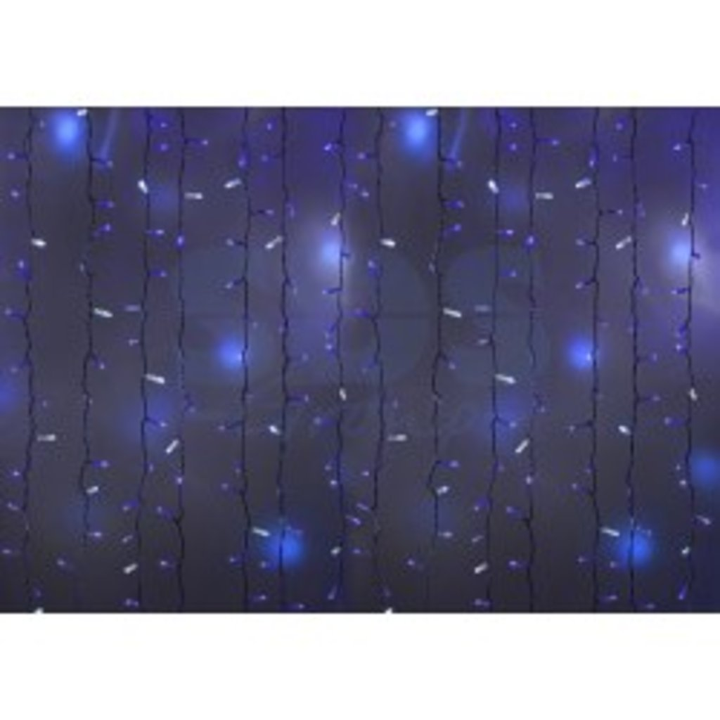 """Новогодняя иллюминация: Гирлянда """"Светодиодный Дождь"""" 2х3м, эффект мерцания, белый провод, 220В, диоды СИНИЕ, NEON-NIGHT в СВЕТОВОД"""