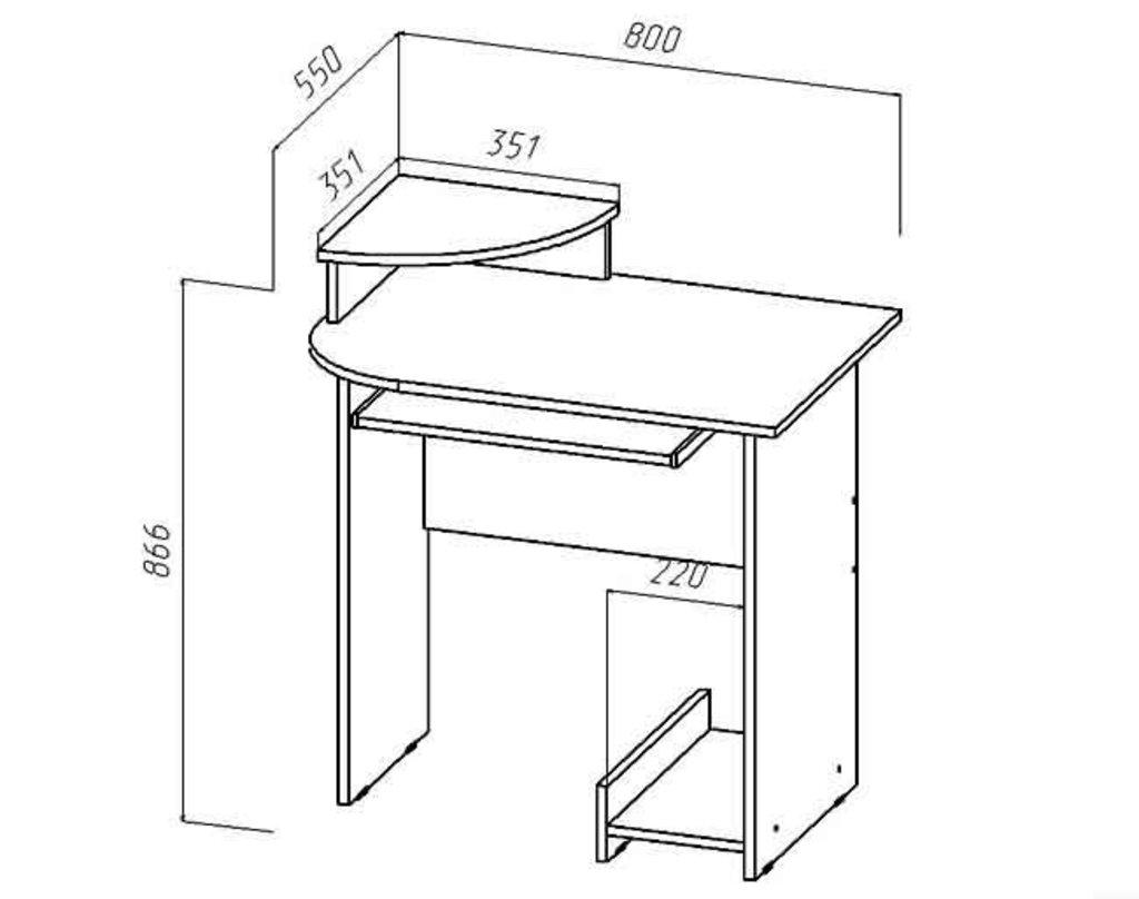 Столы компьютерные: Стол компьютерный «Мини» в Уютный дом