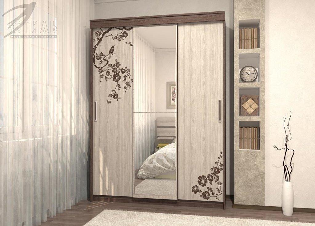 Шкафы: Шкаф-купе Комфорт-8 (Шимо светлый / Шимо темный) в Диван Плюс
