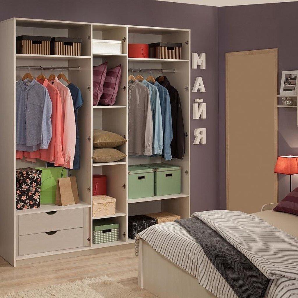Шкафы для одежды и белья: Шкаф для одежды и белья Майя 777 в Стильная мебель