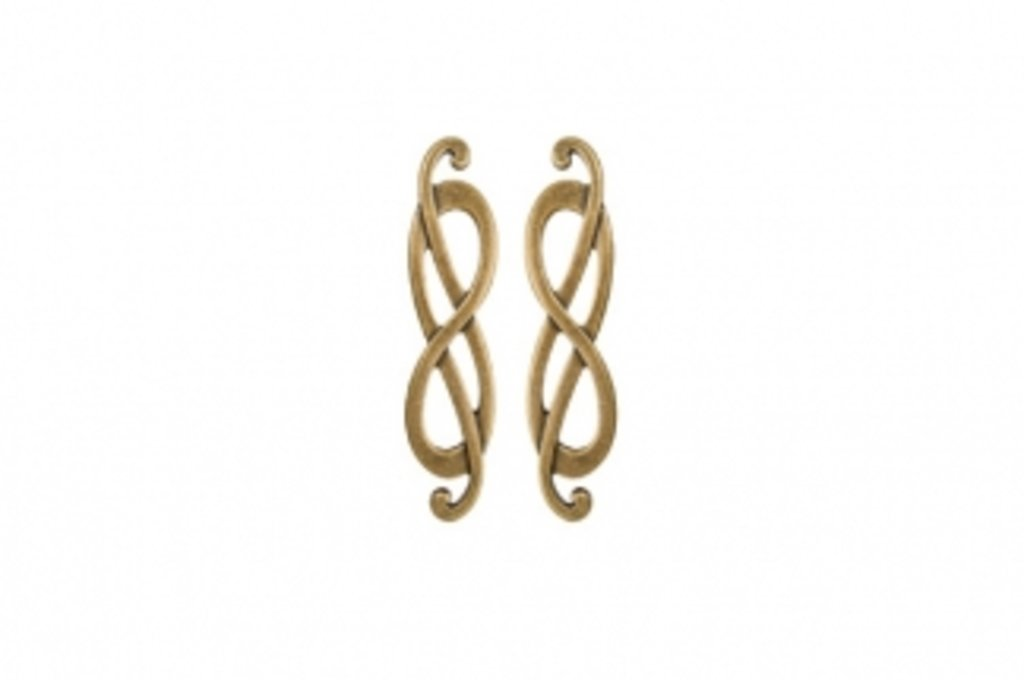 Коллекция КЛАССИКА: Ручка-скоба 64мм (левая), отделка золото императорское в МебельСтрой