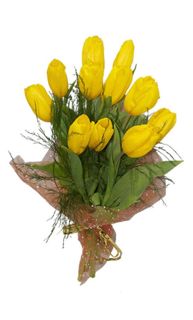 """Букеты и композиции из живых цветов: Букет """"11 тюльпанов"""" в Цветы доставка"""