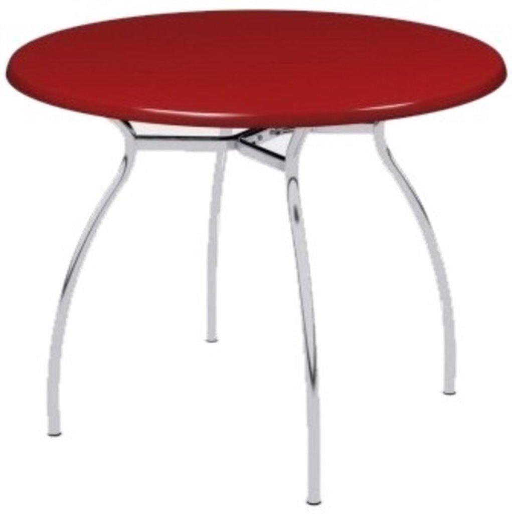 Столы для ресторана, бара, кафе, столовых: Стол круг 80, подстолья № 7 серая в АРТ-МЕБЕЛЬ НН