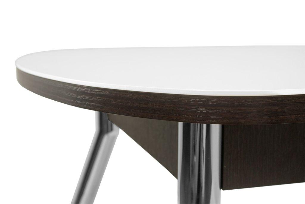 Столы кухонные: Стол ПГ-02 раздвижной, матовое стекло (хром) в АРТ-МЕБЕЛЬ НН
