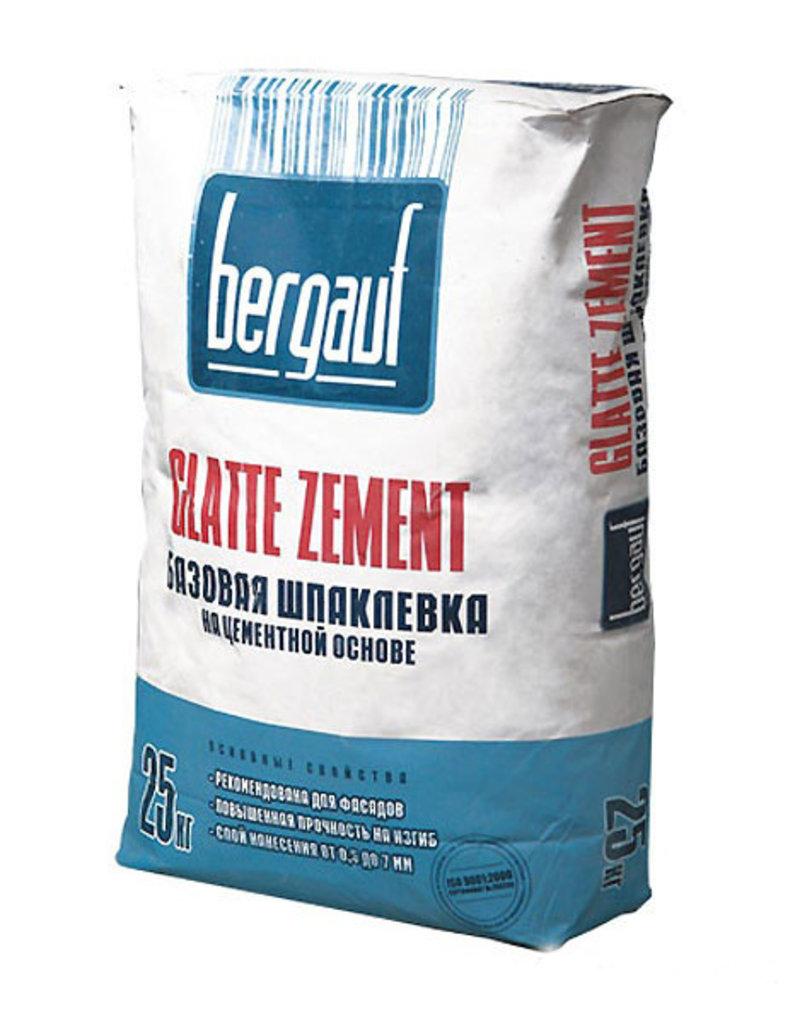 Сухие смеси Бергауф: Шпаклевка базов на цемент.осн.25 кг Bergauf Glatte Zement в База строительных материалов ЯИК