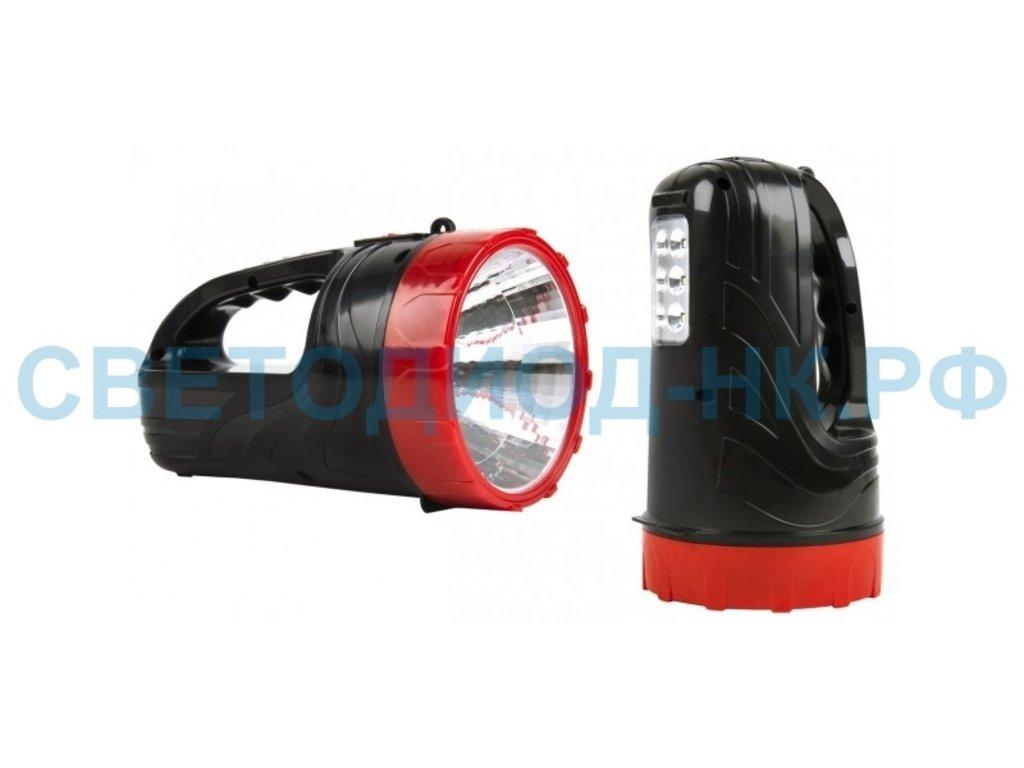 Светодиодные фонари, пушлайты: Фонарь Smartbuy прожектор аккум. 2 в 1 3W+6 LED в СВЕТОВОД
