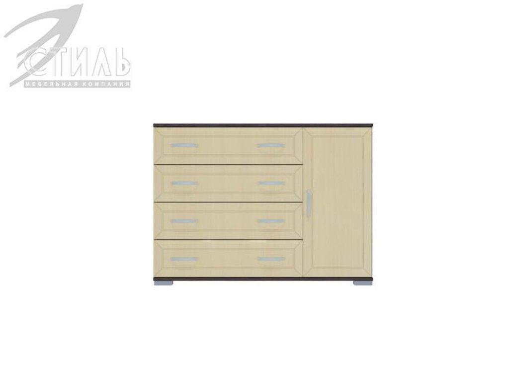 Комоды: Комод МДФ №4 (Венге / Клен светлый) в Диван Плюс