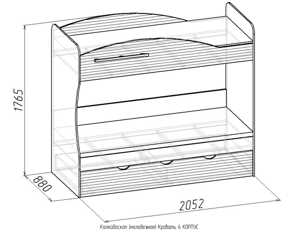 Кровати: Кровать 6 Калейдоскоп в Стильная мебель
