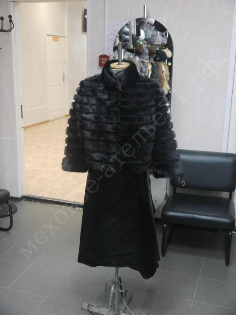 Индивидуальный пошив: Куртка из черной норки поперечная в Молодость
