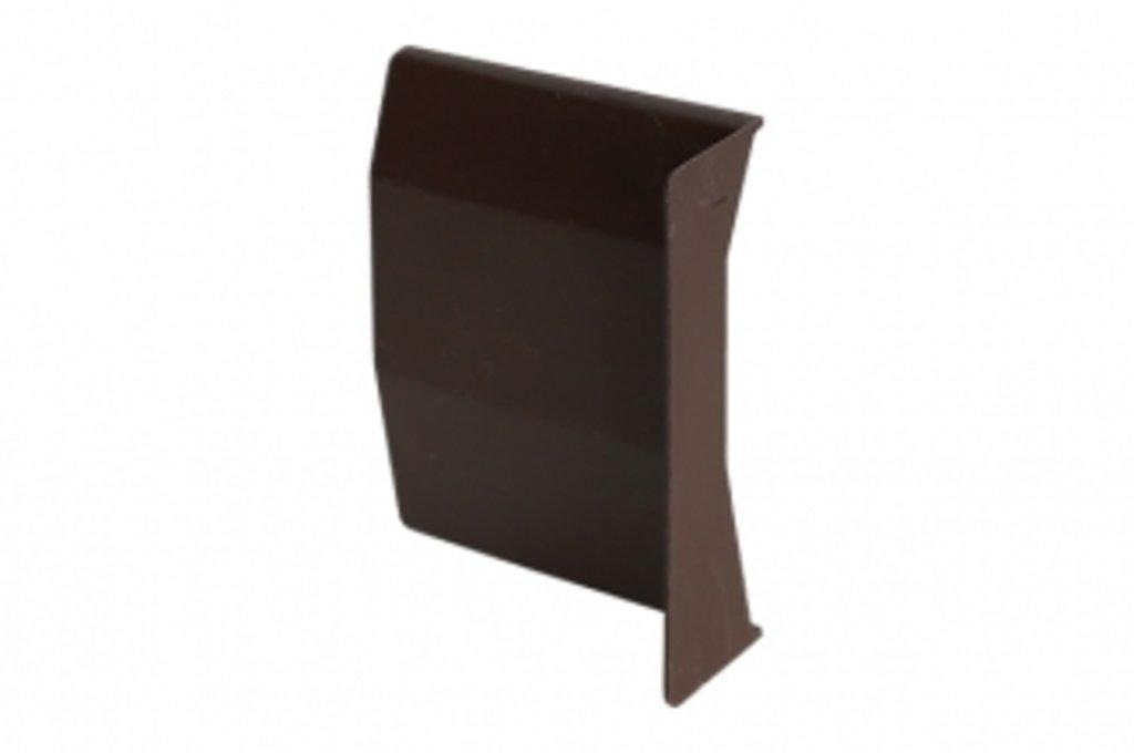 Подвеска каркасов: Крышечка декоративная для подвески арт.807 коричневая, левая в МебельСтрой