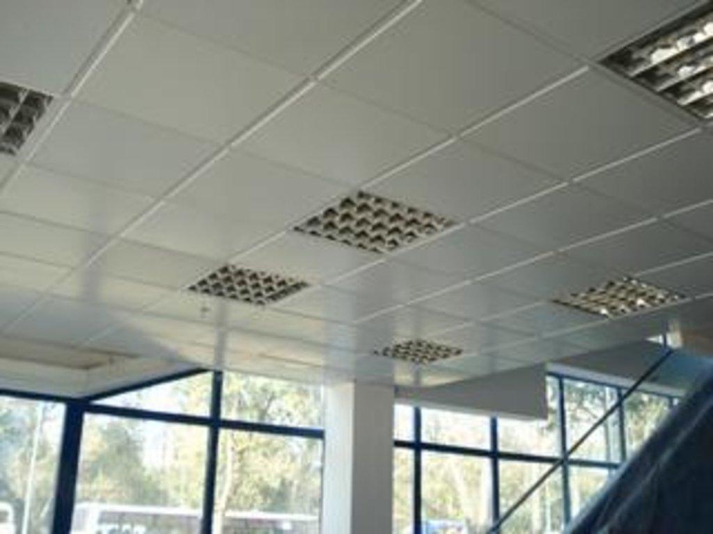 Кассетные металлические потолки: Алюминевая панель SKY T24/TY черная (Cesal) в Мир Потолков