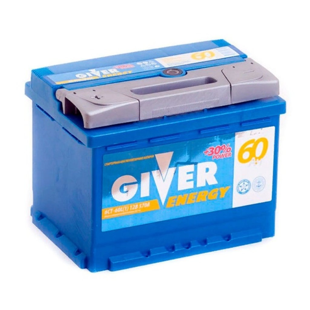 Giver: Аккумулятор GIVER ENERGY 6CT - 60 в БазаАКБ