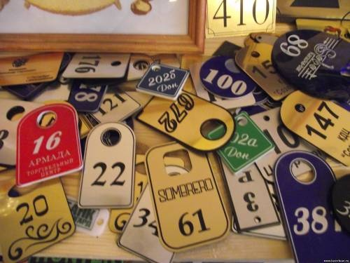Гардеробные номерки: Номерки, бирки, бейджики в ЛазерЛюкс
