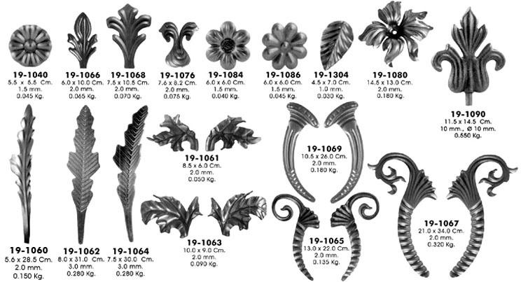 Штамповка деталей: Листья в Мастерская по изготовлению кованых изделий
