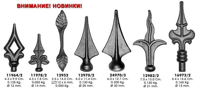 Элементы художественной ковки: Пики, шары в Мастерская по изготовлению кованых изделий