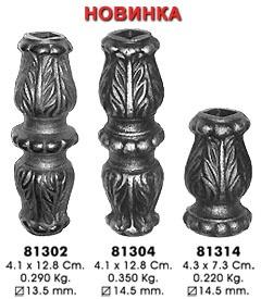 Элементы художественной ковки: Кованые элементы балясин, вставки в Мастерская по изготовлению кованых изделий
