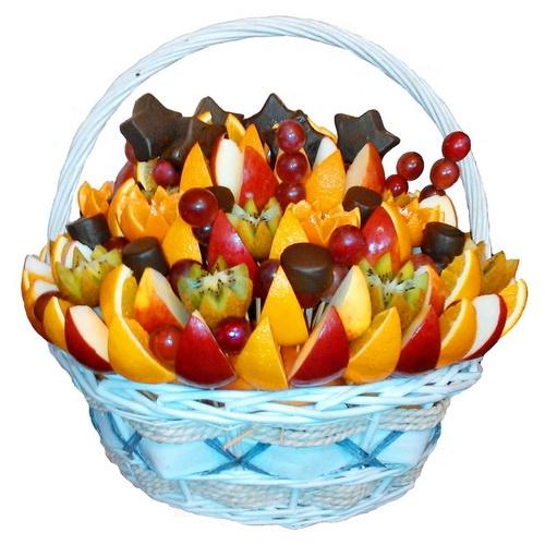 Букеты из конфет, фруктов, овощей, чая: Фруктовый букет №34 в Цветы на Холмах