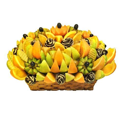 Букеты из конфет, фруктов, овощей, чая: Фруктовый букет №22 в Цветы на Холмах