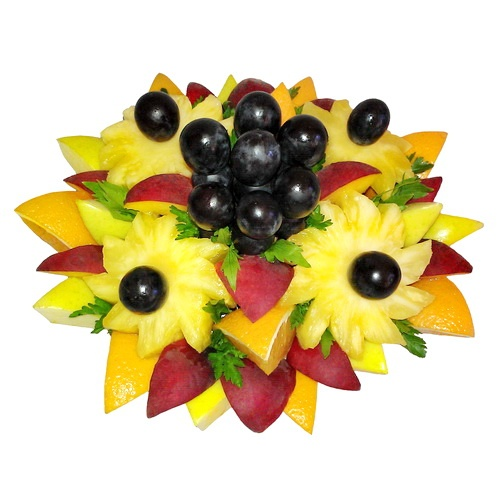 Букеты из конфет, фруктов, овощей, чая: Фруктовый букет №13 в Цветы на Холмах