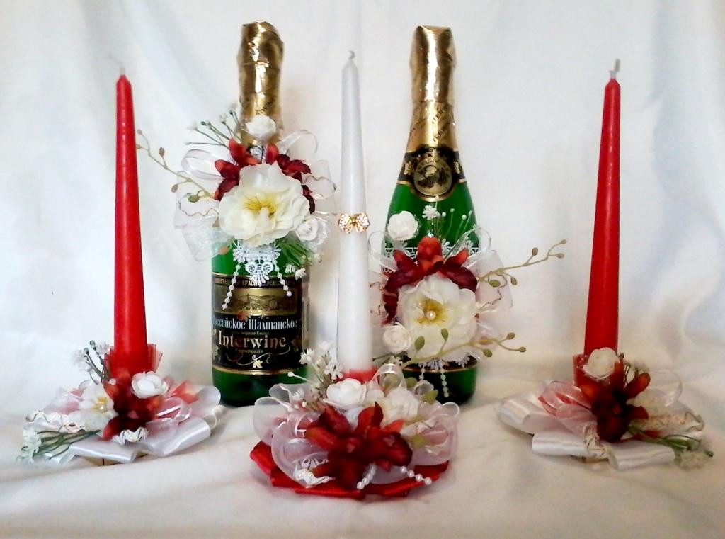 Свадебные аксессуары, общее: Свадебная арка и украшение зала и авто, украшение шампанского, бокалов, свеч... в Happy Day
