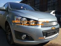 Emex: Защита радиатора Chevrolet Aveo 2012- chrome низ