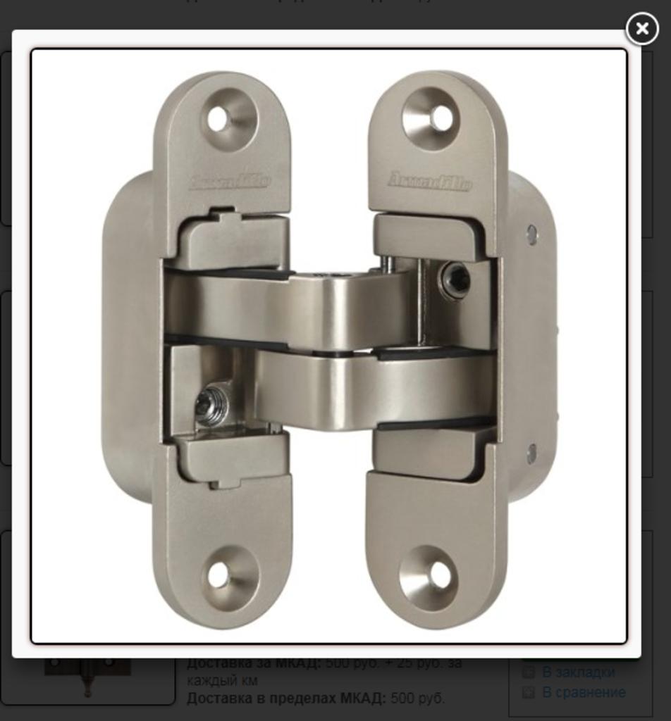 Скрытые петли: Петля скрытой установки Армадилло 3D-ACH 60 SN в Двери в Тюмени, межкомнатные двери, входные двери