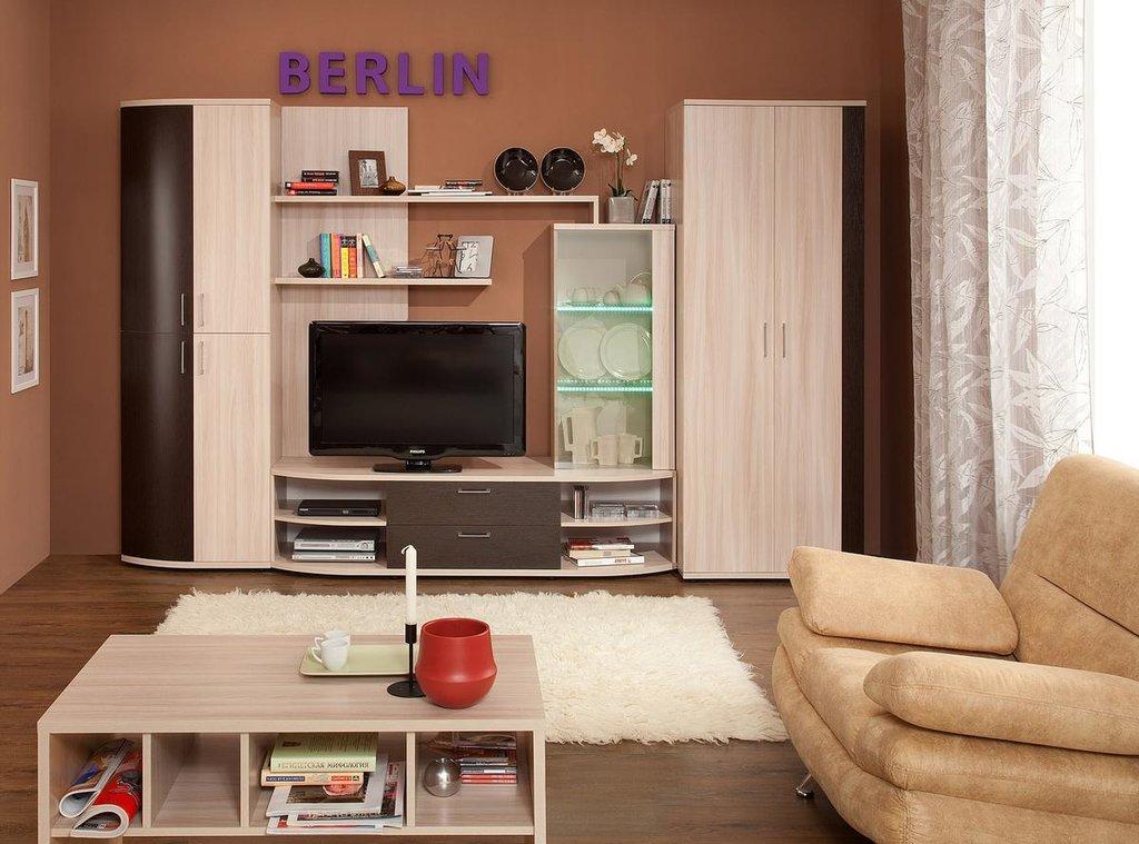Модульная мебель в гостиную Berlin (Венге): Модульная мебель в гостиную BERLIN 1 (Венге) в Стильная мебель