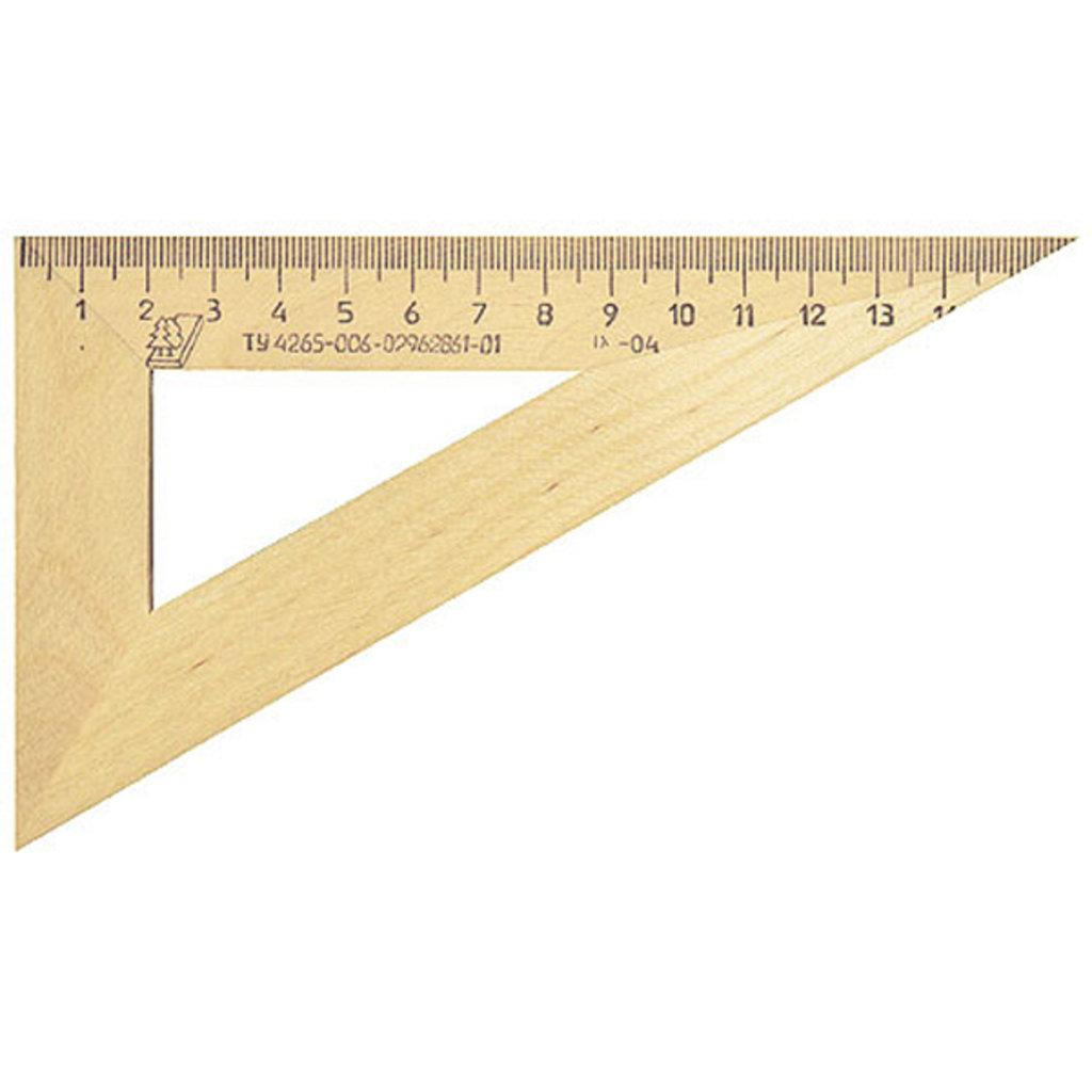 Линейки, рейсшины: Треугольник деревянный 15см в Шедевр, художественный салон