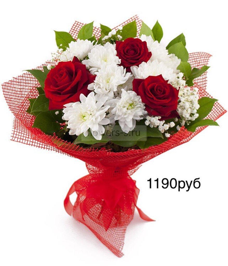 Букеты: Букет, розы,хризантемы в Николь, магазины цветов
