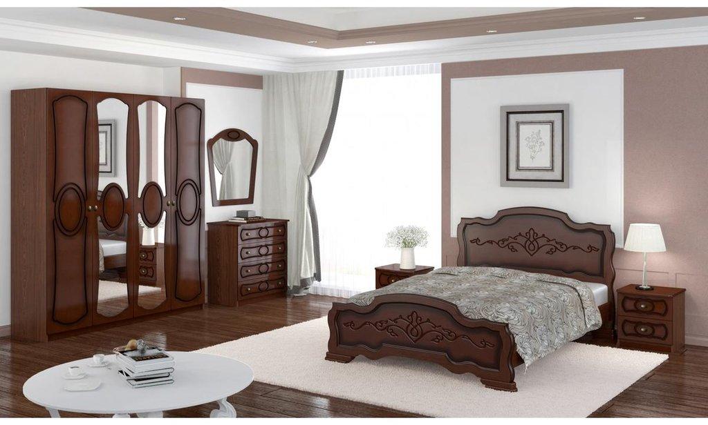 Спальный гарнитур Идиллия (лак): Тумба прикроватная Идиллия (лак) 2 ящика в Уютный дом
